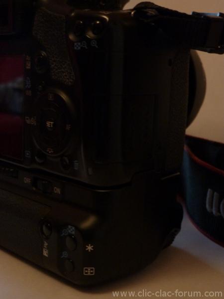 Canon Grip BG-E5 sur reflex Canon EOS 450D