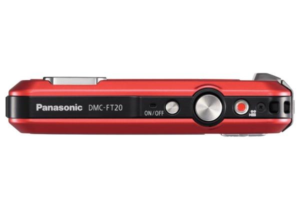 Panasonic Lumix DMC-FT20 rouge de haut