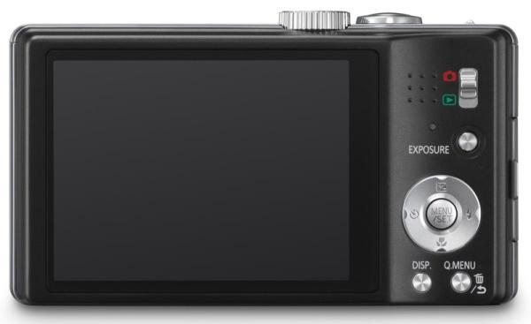 Panasonic Lumix DMC-TZ25 noir de dos