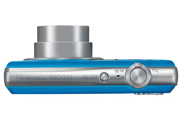 Panasonic Lumix DMC-TZ40 bleu de haut