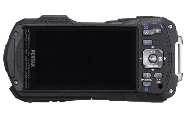 Pentax Optio WG-2 noir de dos