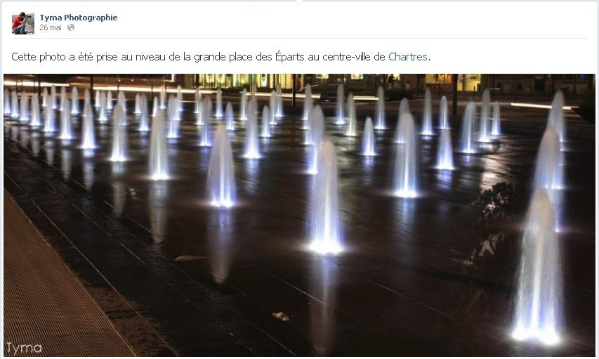Une photo mise en avant sur ma page Tyma Photographie sur Facebook