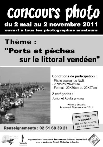concours photo 3ème Concours photo Ports et pêches sur le littoral vendéen par la Communauté de Communes du Marais Breton Nord et le canton de Beauvoir sur Mer