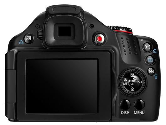 le Canon PowerShot SX40 HS de dos