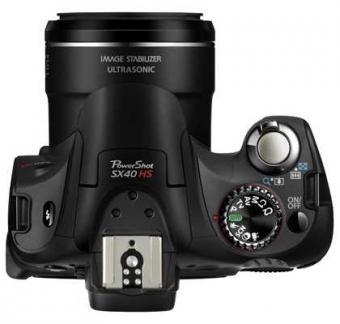 le Canon PowerShot SX40 HS de haut