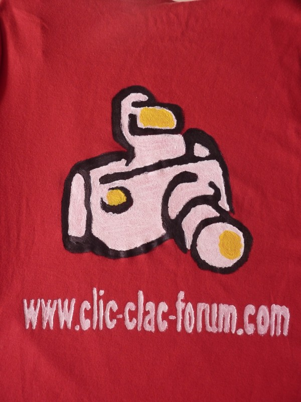 T-shirt pour la promotion du forum de photographie Clic-Clac pour le Salon de la photo 2011