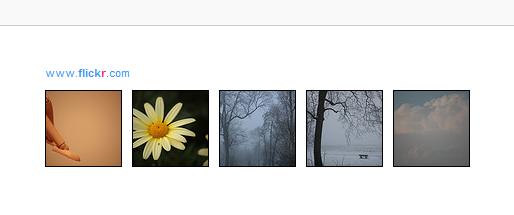 Aperçu de votre badge que vous venez de créer sur Flickr sur un blog de type Blogger