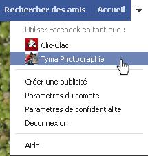 Utilisez Facebook avec votre page
