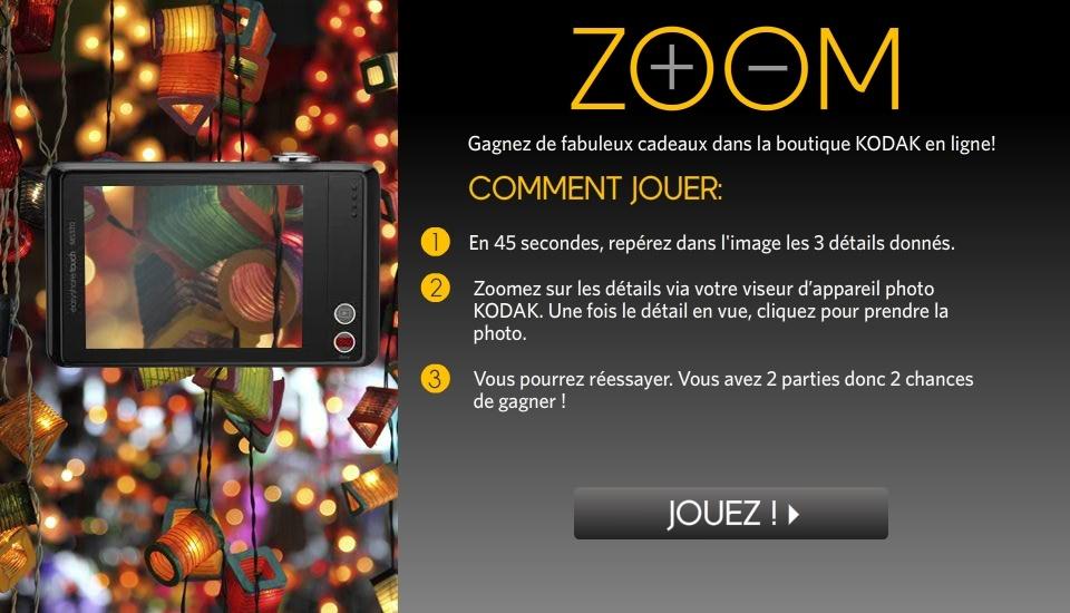 Zoom, un jeu pour obtenir des réductions chez Kodak