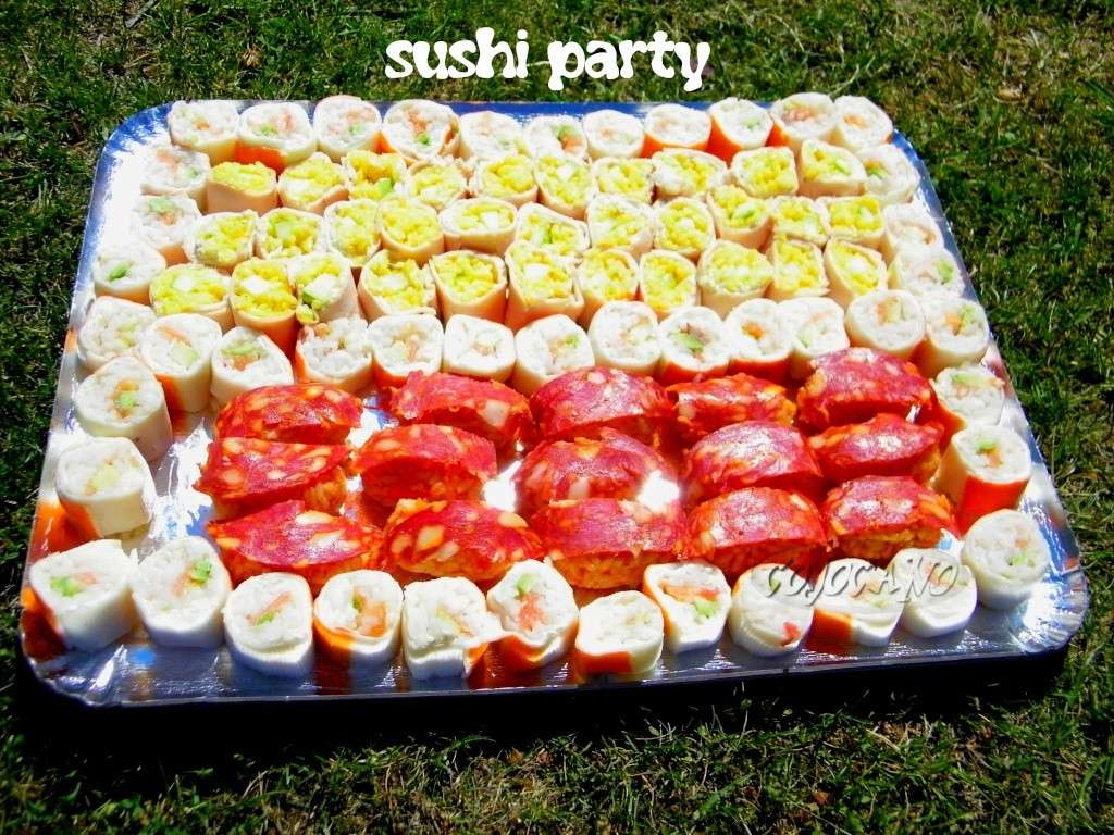 Exceptionnel SUSHI PARTY : sushi poulet curry pomme verte - LES PETITS PLATS  KL39