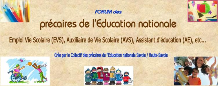 Les pr�caires de l'Education Nationale 73-74