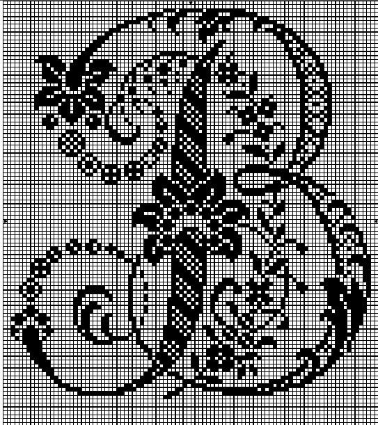 Le monde de zabou 10 06 12 17 06 12 - Grille point de croix lettre ...