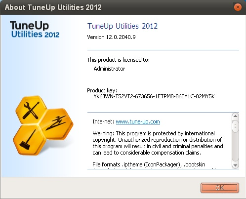 ������ TuneUp Utilities v12.0.2040.9