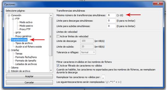 Configurar Filezilla 2
