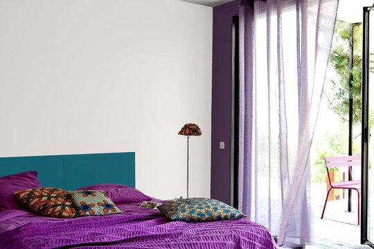 Article couleur association bleue et violet - Exemple couleur chambre ...