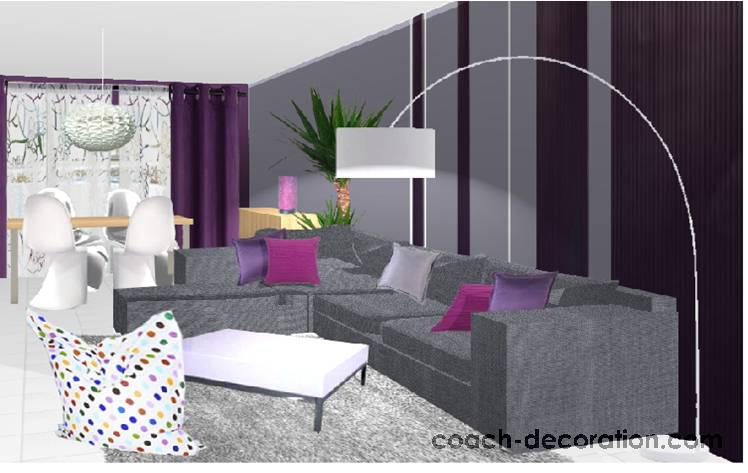 Relooking de ma pi ce vivre page 2 for Salon violet et gris