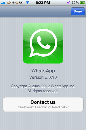 WhatsApp Messenger 2.6.10
