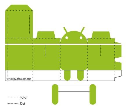 Как из бумаги сделать андроида