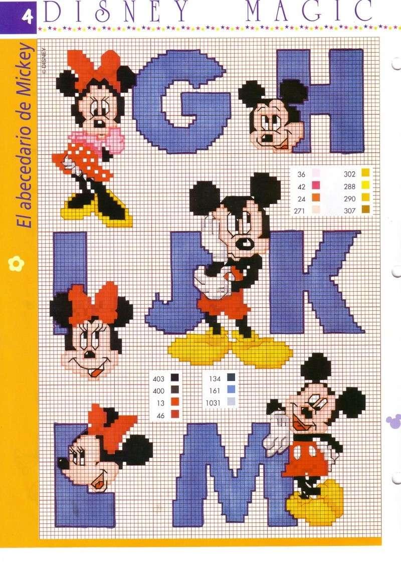 Patrones abecedario mickey for Alfabeto disney a punto croce