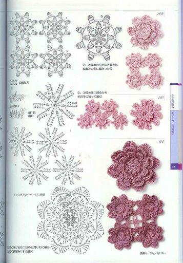Patrones de flores de crochet - Patrones de ganchillo ...