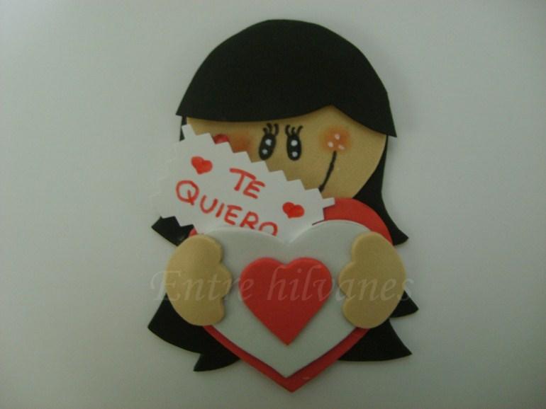 Muñecas de goma eva PLANA - Imagui