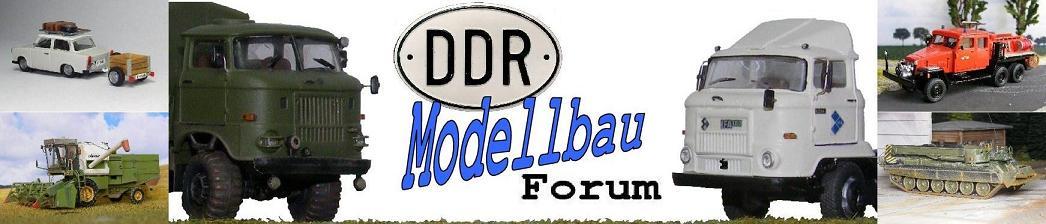 Modellfahrzeuge des DDR-Strassenbildes im Maßstab 1/87