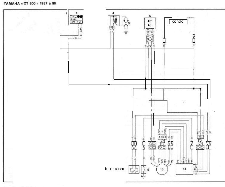 Schema Elettrico Xt 600 : Faisceau kf simplifié