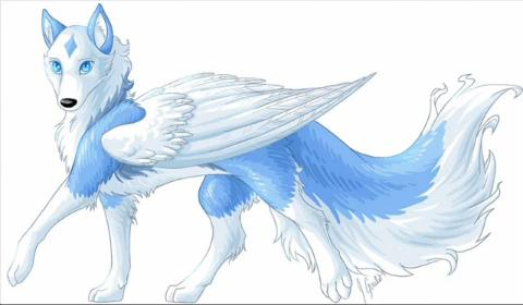 Ice Wolf With Wings Personality Meet her