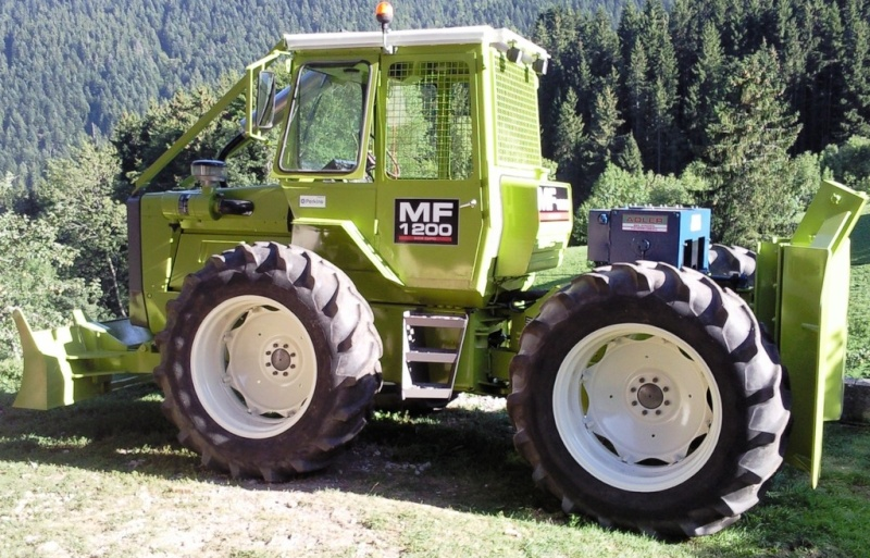 tracteur forestier massey ferguson 1200