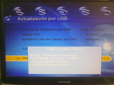 Actualizar Decodificador AzBox