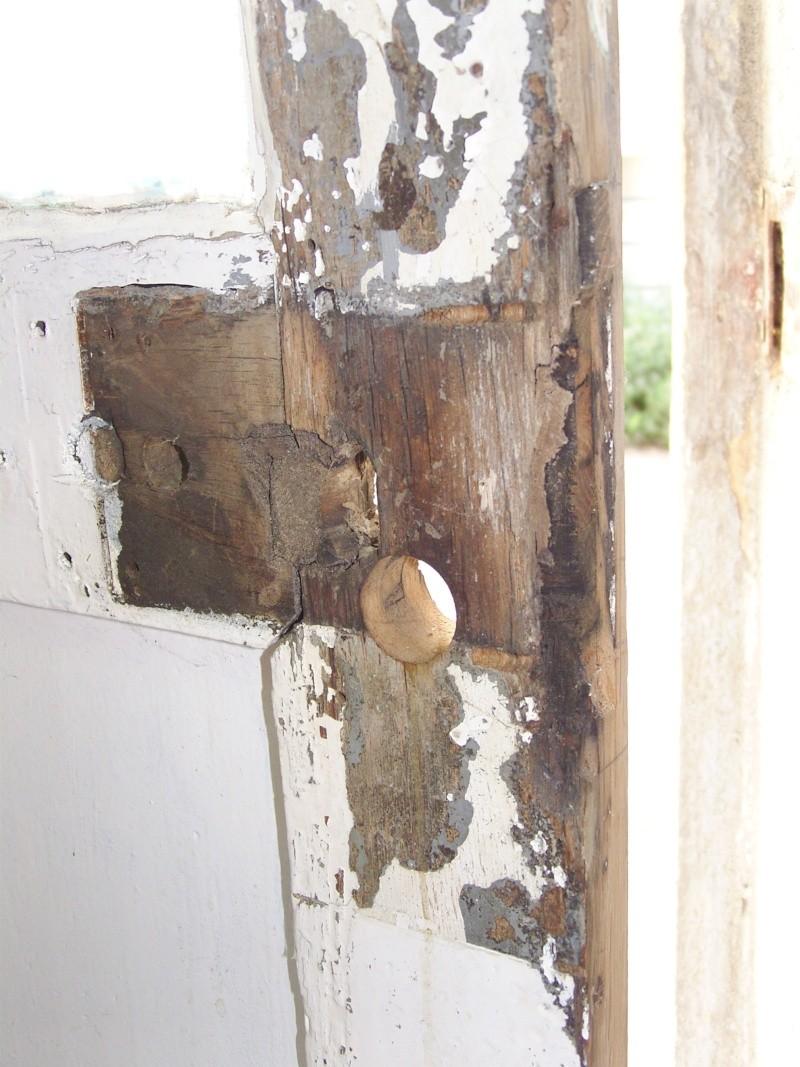 Réparation d'une porte autour de la serrure (RESOLU) # Réparer Porte En Bois