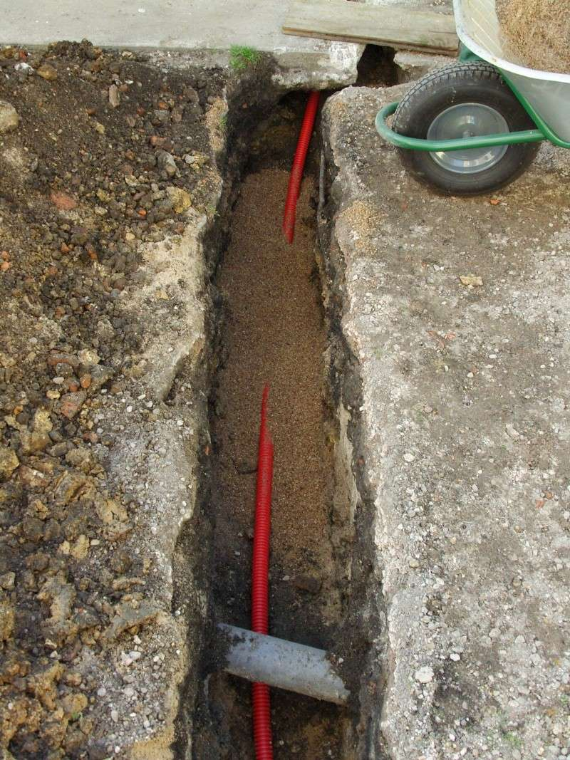 Raccord lectrique de l 39 atelier 1 1 histoires de bois - Passer cable dans gaine enterree ...