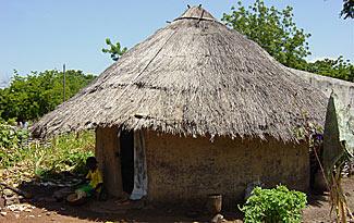 Toit en chaume clair for Construire une maison au mali