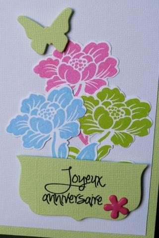 Carte d 39 anniversaire comme un bouquet de fleurs color for Bouquet de fleurs 30 euros