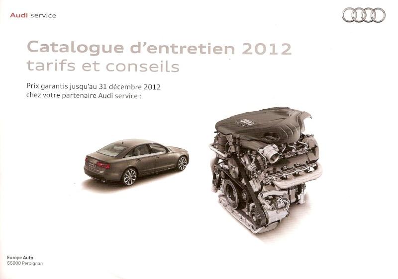 catalogue entretien audi 2012
