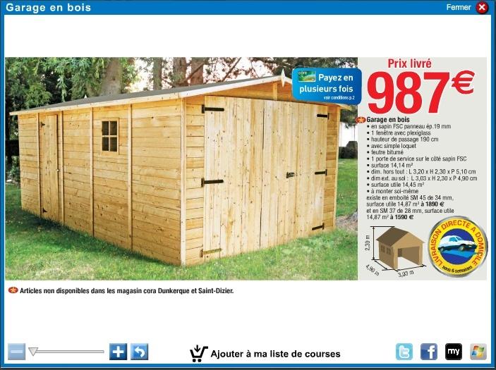 Habillage Bois Utilitaire Pas Cher > Garage En Bois Pas Cher u2013 Mzaol