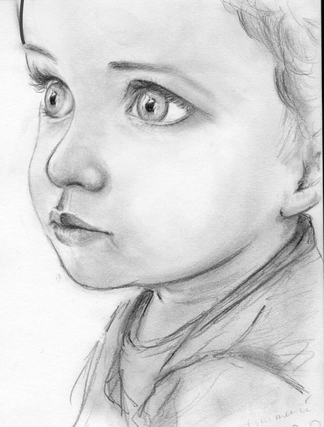 Portrait d 39 enfant - Dessin profil visage ...