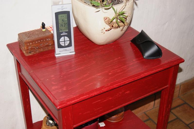 Help pour id e de couleur table en bois for Table de jardin rouge