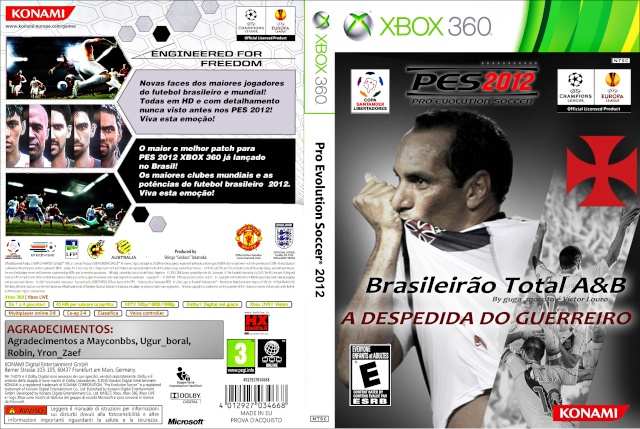 capa p10 Download – Pro Evolution Soccer 2012   Brazukas 2012   A Despedida do Guerreiro – Xbox 360
