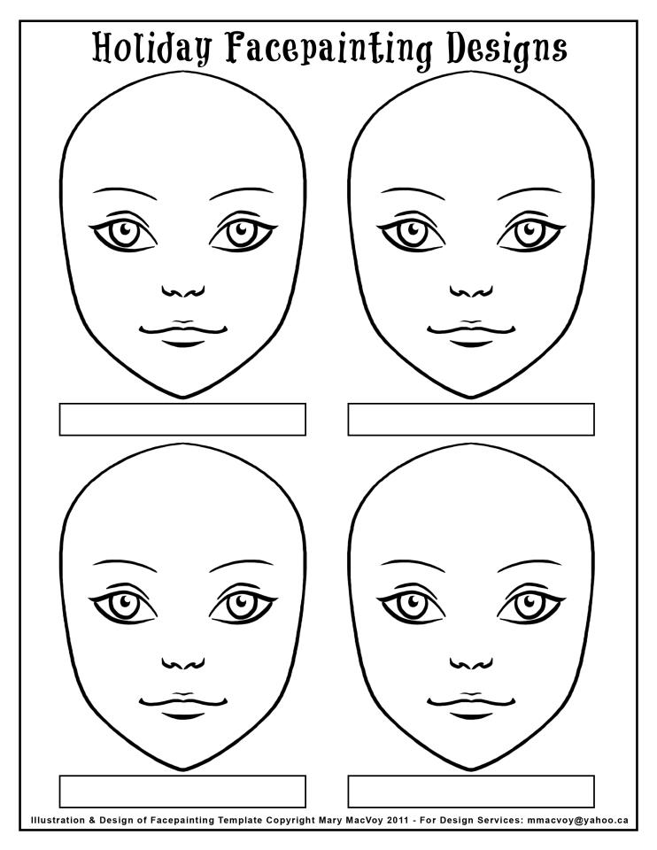 Blank Face Template For Face Painting Re: display board pictures