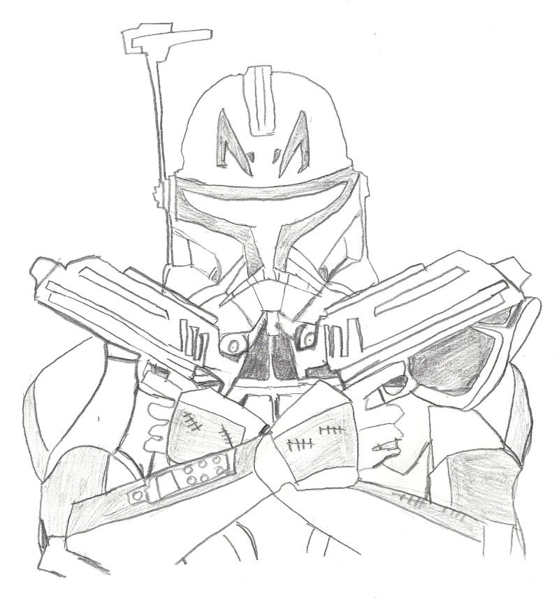 Artwork de shaka - Coloriage clone star wars ...